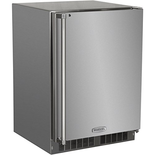 AGA Marvel MO24RAS1RS Outdoor Refrigerator with Lock, Right Hinge Stainless Steel Door, 24-Inch ()