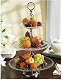 Godinger Shannon Crystal Chesterfield 3-tier Crystal Server