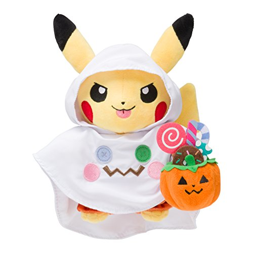 Pokemon Center 8.6-Inch Pikachu Pokemon Halloween Time Stuffed Plush Doll]()