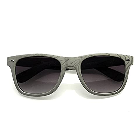 Unique Style Indie Fashion Wood Print Retro Horned Rim Sunglasses (Gray Wood)