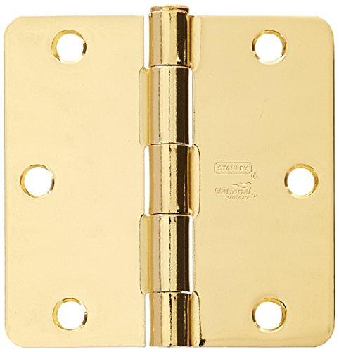 Polished Brass Door Hinge - NATIONAL MFG/SPECTRUM BRANDS HHI N830-209 Door Hinge, 3-1/2-Inch, Polished Brass