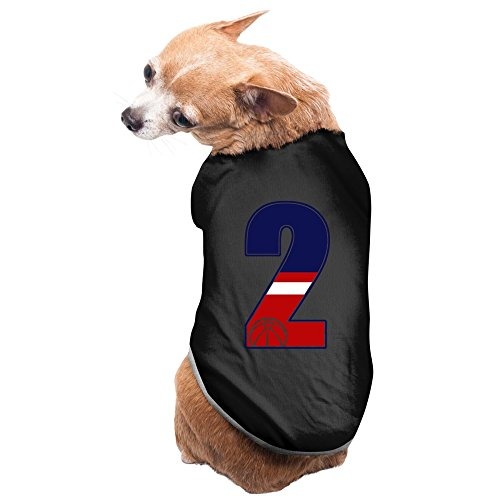 ZULA New Style Raleigh Basketball Player #2 Pet Doggy Costumes Black Size L]()