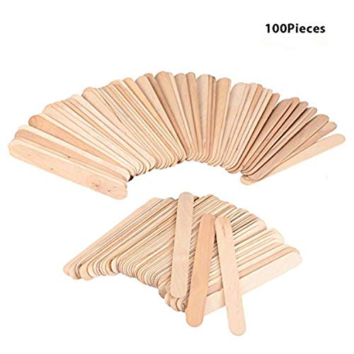 - Autrix 100 Pieces Wax Applicator Sticks Large Wood Wax Spatulas for Hair Eyebrow Removal