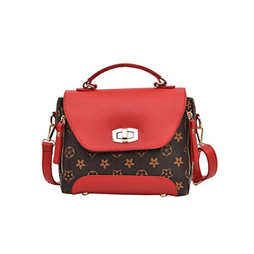 Korean Version Of The Creative Personality Wild Temperament Messenger Bag Lady Single Flower Old Red Bag