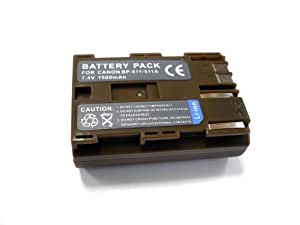 Digital Camera Lithium-Ion Battery for CANON BP-511 Compatible DM-MV100Xi , DM-MV30i, EOS 10D, EOS 20D, EOS 5D Series