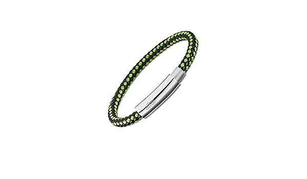 de Piel Lotus Style Pulsera Urban Style LS2052//2//3 para Hombre de Color Verde y Negro