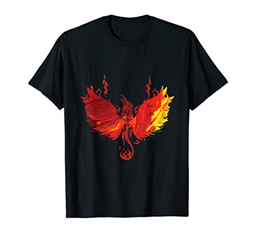 (Awesome Phoenix Red Firebird Rising Funny Gift T Shirt)