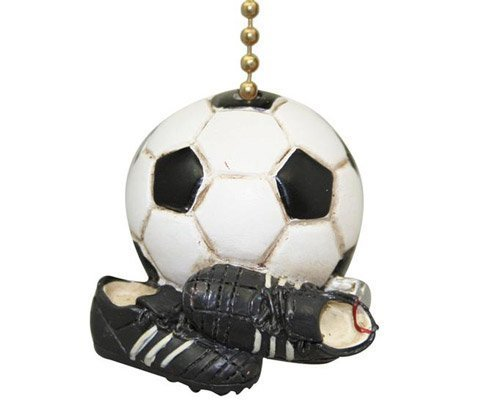 Soccer Ball Fan Cleats Game Day Sports Ceiling Fan Pull by Clementine by Clementine