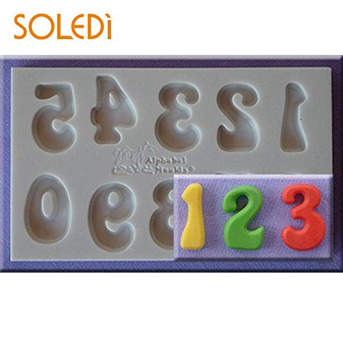 - 1 piece Cute 3D Number Alphabet Letter Silicone Cake Mold Baking Decorating Tools