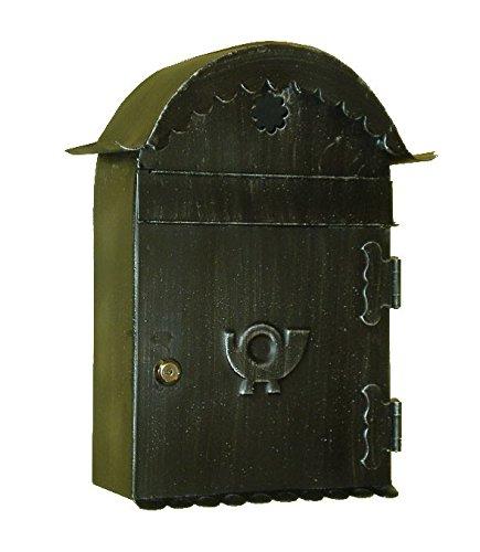 Lorenz Ferart 6012.0 Boîte à courrier - fer forgé - structure Base Noir fumé à la main Argent