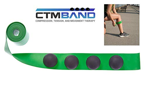 The CTM Band (Green) - Trigger Point Therapy and Muscle Recovery Myofascial Release Tool for Exercise and Athletic Pain Relief