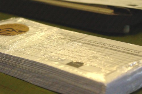 Credit Card Sales Slips - 12 packs of 100 2 part long imprinter form by Of The Earth