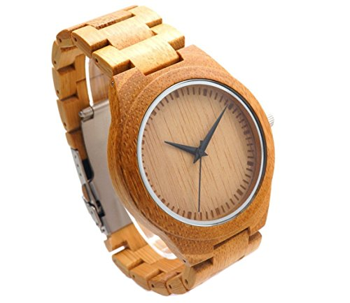 Bamboo Wooden Watch - Engraved with Personal Text Gift for Him/Her, Anniversary, Wedding Gift by Kedera