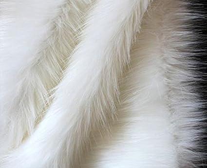 Vardhman Fur Cloth White Polye...