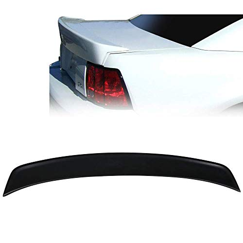 Trunk Spoiler Fits 1999-2004 Ford Mustang | Cobra Style Black PU Poly Urethane Rear Trunk Spoiler Wing Deck Lid By IKON MOTORSPORTS