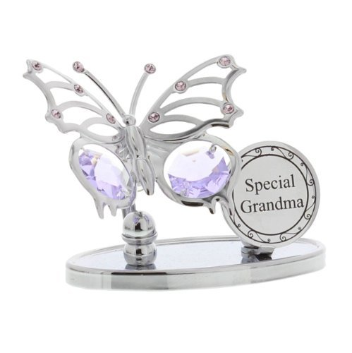Price comparison product image Special Grandma Swarovski Elements Butterfly Design Grandma Gift by ukgiftstoreonline