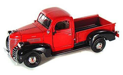 1941 Pickup - 1941 Plymouth Pickup Truck, Red - Motormax 73278 - 1/24 scale Diecast Model Toy Car
