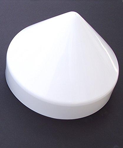 JSP Manufacturing Piling Cone Marine Dock Boat Pylon Edge Post Head Cover Black or White (White, - Cap White Edge