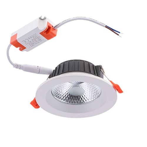 Homyl Aluminum Round LED Downlight Recessed Fixture Ceiling Lamp Easy Installed - 3.5 inch 10W COB by Homyl (Image #7)