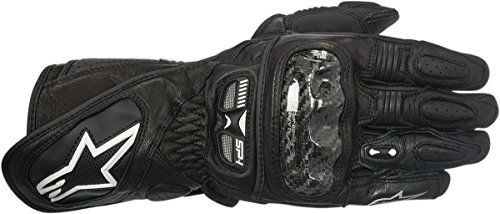 Alpinestars Stella SP-1 Women's Leather Street Racing Motorcycle Gloves - Black / Medium