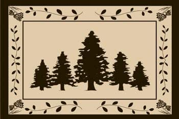 Outdoor Ground Mat for Picnics, RV, Beach, Camping 6×9 Feet , Trees