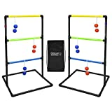 GoSports Standard Ladder Toss Game Set Includes-6 Rubber Bolos and Carrying Case