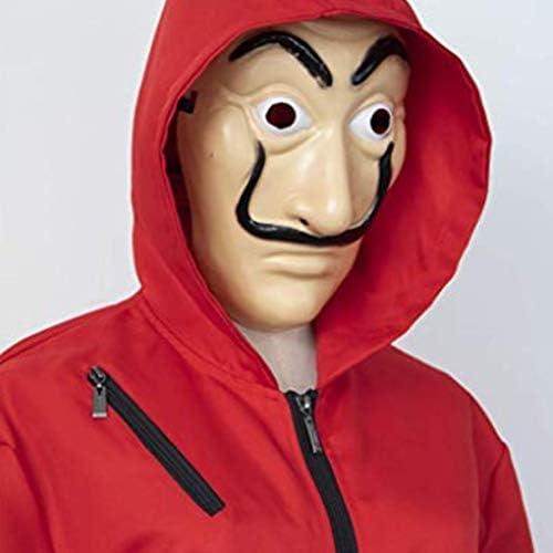 Traje de la Casa de Papel con Mascara,Mono Cosplay Trajes de ...