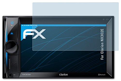 3 x atFoliX Displayschutzfolie Clarion NX302E Schutzfolie - FX-Clear kristallklar