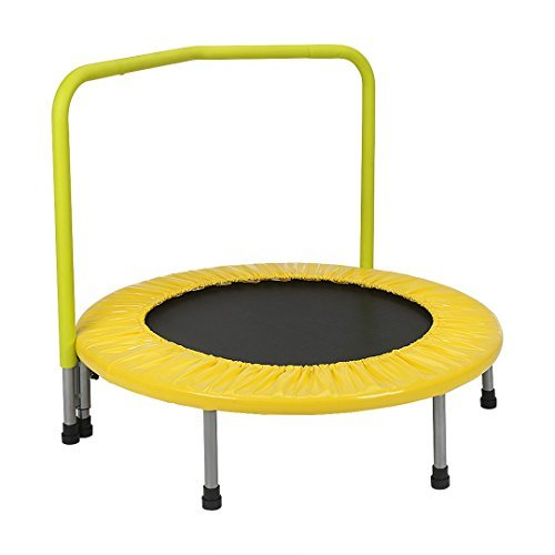 BestValue Go 36'' Rebounder Trampoline with Hand Rail Bouncing Workout Training Exercise by BestValue Go