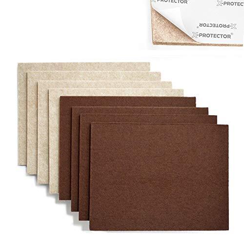 "X-Protector 8 Pack Premium Felt Furniture Pads 8""x6"" Heavy Duty 1/5"" Felt Sheets! Cut Furniture Felt Pads for Furniture Feet You Need – Best Furniture Pads for Hardwood Floors! by X-Protector"