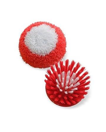 Kuhn Rikon 5211 Spare: 1-Scrubber/1-Bristle Replacement Head, Red