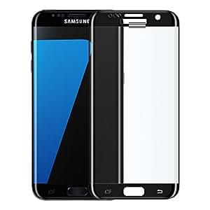 tinxi® El vidrio templado de protector de vidrio templado para Samsung Galaxy S7 Edge 5.5 Pulgadas 3D de la superficie curva plena pantalla de la película del protector de pantalla ultra duro protector de 0.3mm clara 2.5D Color del borde del Negro