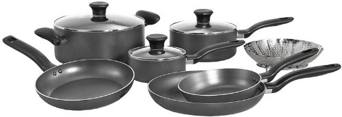 T-fal A821SA Initiatives Nonstick Inside and Out Dishwasher Safe Oven Safe Cookware Set