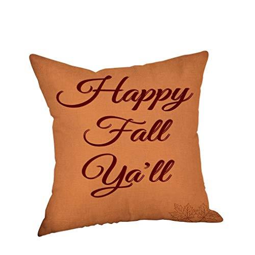 YOcheerful Happy Halloween Pillow Cases Pillow Cover Cushion Sofa Decor (B,Free Size) -