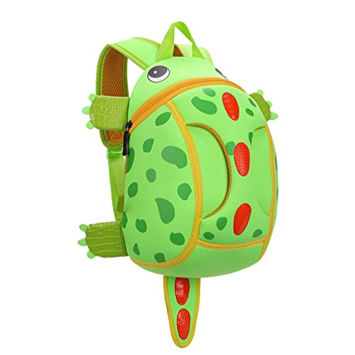 MATMO Children School Bag Kindergarten 3D Cute Cartoon Dinosaur Baby Bag Green (Baby Dinosaur Cartoon)