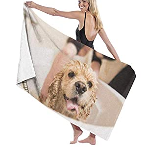 LYAOE Bath Towel Microfiber Super Soft Bath Towel Wet Dog American Cocker Spaniel Bathroom High Water Absorption, Multi-Purpose 80cm130cm for in Bathroo 34