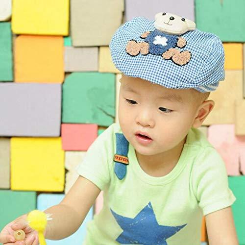 Berretto Animati Cappello In Dei Bambino Il Cartoni Blu Bambino Copricapo Magideal Di Tartan Design Del Orso Cappello Bambini Scherza Del Cappello pdAwzvwxq