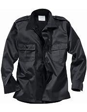 Surplus Hombres US Camisa Manga Larga Negro