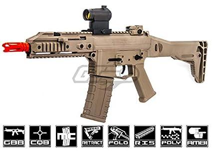Amazon.com: GHK G5 M4 Carbine GBB Airsoft Rifle (Tan ...