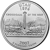 2007 P Utah State Quarter Choice Uncirculated