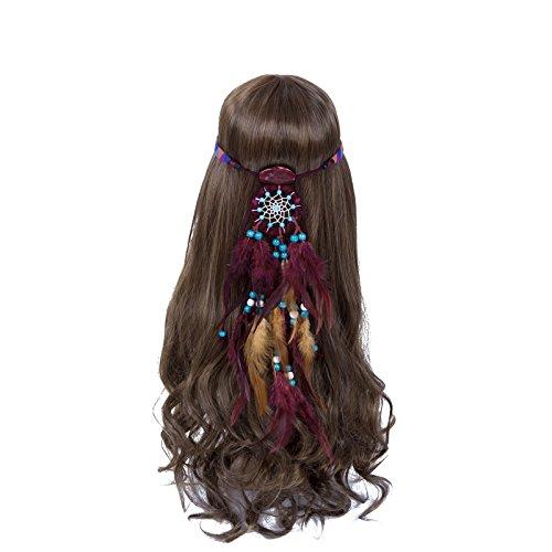 - Dreamcatcher Feather Headband Hippie Headdress - AWAYTR New Retro Bohemian Indain Style Feather Headwear Fancy Headpieces For Woman