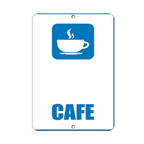 Cafe Style 4 Business Sign Lunch Room And Break Room LABEL DECAL STICKER Sticks to Any Surface 9x12 In