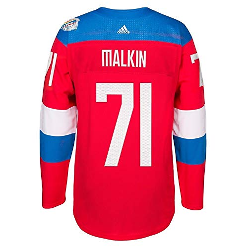 adidas Team Russia 2016 World Cup of Hockey Evgeni Malkin Youth Red Premier Jersey (Youth (S/M))
