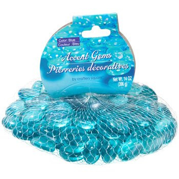Greenbrier Intl Glass Accent Gems Crafters Square Aquamarine 2-14-Oz. Bags by Greenbrier Intl