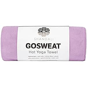Shandali Gosweat Hot Yoga Towel, Color African Violet, Size 16 x 26.5
