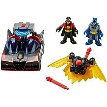 Fisher-Price Imaginext DC Super Friends DC Comics Superhero Showdown Batmobile with Lights & Red Robin