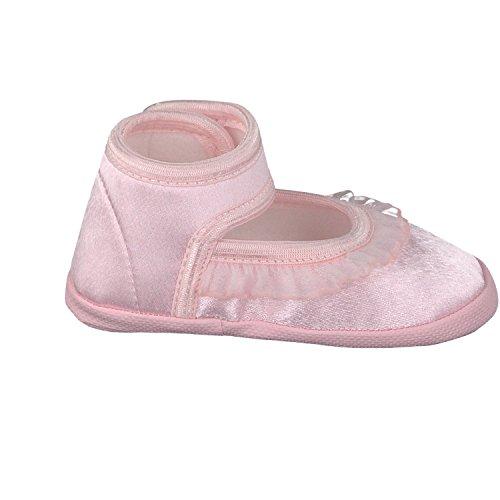 Omnia-Baby Pantau.eu Taufschuhe Babyschuhe Lauflernschuhe Kinderschuhe Babyschühchen Krabbelschuhe, Festliche Baby Schuhe, Satin - Zapatos primeros pasos de Satén para niña Rosa