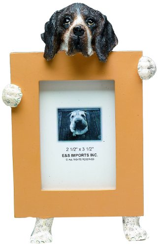 German Shorthaired Pointer Picture Frame Holds Your Favorite 2.5 by 3.5 Inch Photo, Hand Painted Realistic Looking German Shorthaired Pointer Stands 6 Inches Tall Holding Beautifully Crafted Frame, Unique and Special German Shorthaired Pointer Gifts for German Shorthaired Pointer Owners