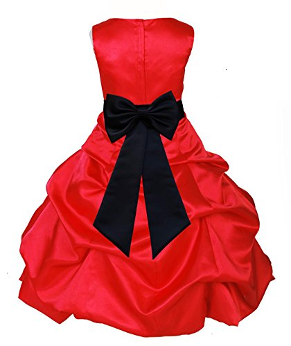 Wedding Pageant Red Flower Girl Dress Christmas Gown Holiday Occasions 808t 16 (Christmas Pageant Dresses)