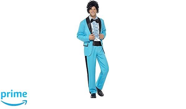 Smiffys Disfraz Rey del baile años 80Ž, color azul (43194M): Amazon.es: Juguetes y juegos